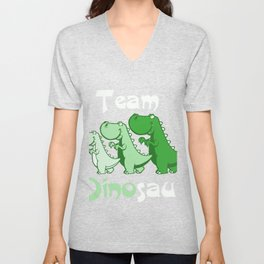 Team Dinosaur (Greens) Unisex V-Neck