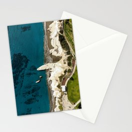 Beach caves and white rocks Stationery Cards