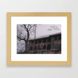 A Friendly Haunting Framed Art Print