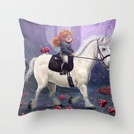 Mushroom Princess Throw Pillow