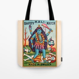Kali Hindu Goddess Devi Shakti Matches Vintage Graphic Tote Bag