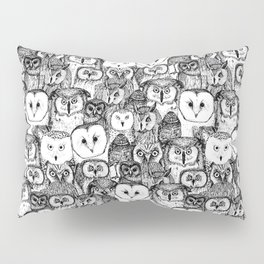 just owls black white Pillow Sham