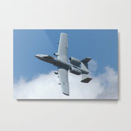 US Air Force A-10 Warthog High Speed Fly-By Metal Print