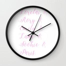 Pink Gilmore girls character list Wall Clock