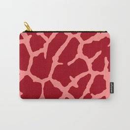 Red Giraffe Print Carry-All Pouch