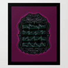The Sound of My Heart Beat Art Print