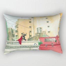 Calle Salguero, a rooftop tanda Rectangular Pillow