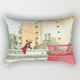 Calle Salguero, a rooftop tanda Rectangular Pillow