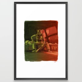 Hotline Baby Framed Art Print