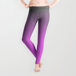 Gray and Pink Gradient Ombre Leggings