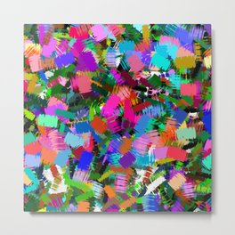 Colorful paint strokes Metal Print