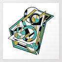 Partridge - Geometric Abstract Digital Design by rmlstudios