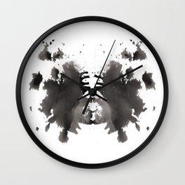 Rorschach test 1 Wall Clock