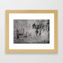while we wait  Framed Art Print