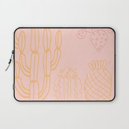 Pastel cactus in desert Laptop Sleeve