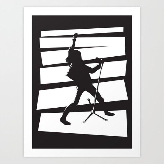 Legendary Punk Frontman Art Print