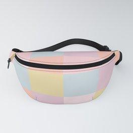 Color Grid - Pastel Rainbow Fanny Pack