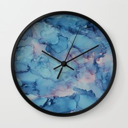 Crashing- Alcohol Ink Painting Wall Clock