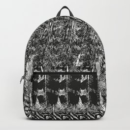 Feather Pattern | Bird Feathers | Black and White | Backpack