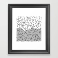 Ab Half n Half Framed Art Print