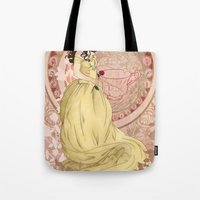 once upon a  time Tote Bags featuring Once Upon a Time by Morgan Inslee Groombridge