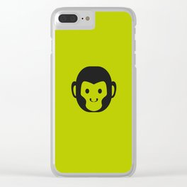 Monkey Head Clear iPhone Case
