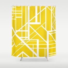 Roadway Of Abstraction - Interstate Abstract Path Shower Curtain