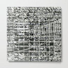 A Symbol of Belonging (P/D3 Glitch Collage Studies) Metal Print