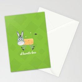El Burrito Loco illustration Stationery Cards