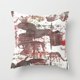 Deep Taupe abstract watercolor Throw Pillow