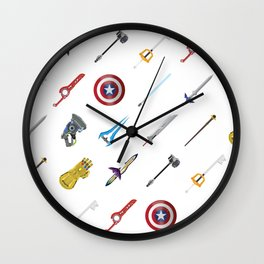 Fantasy Weapons Pattern Wall Clock