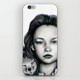 The Girl and Fox iPhone Skin