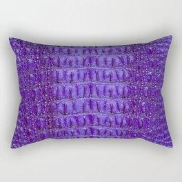 Deep Purple Crocodile Rectangular Pillow