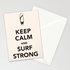 KEEP CALM SURF STRONG Stationery Cards