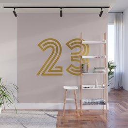 #23 (Pink) Wall Mural