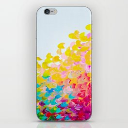 CREATION IN COLOR - Vibrant Bright Bold Colorful Abstract Painting Cheerful Fun Ocean Autumn Waves iPhone Skin