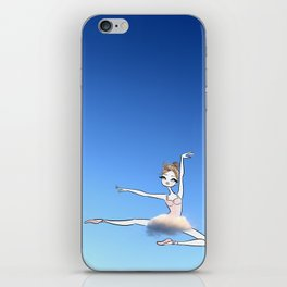 Sweet Ballerina up in the sky with a cloud tutu iPhone Skin