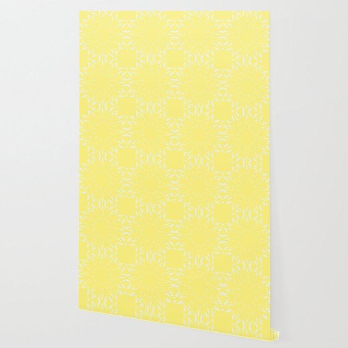 Lemon Yellow Color Burst Wallpaper