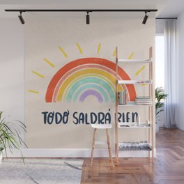 Todo Saldrá Bien Arcoíris Wall Mural