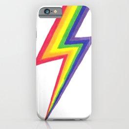 Rainbow Bolts iPhone Case
