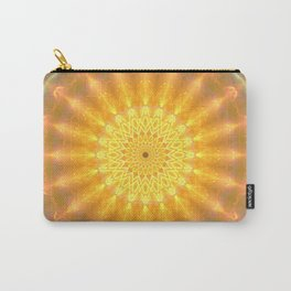 Gold Medallion Mandala Carry-All Pouch