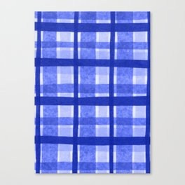 Tissue Paper Plaid - Blue Canvas Print