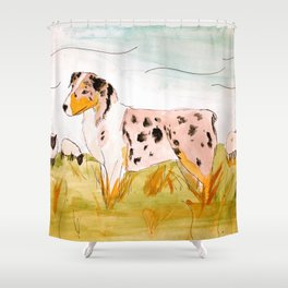 Australian Shepard Shower Curtain