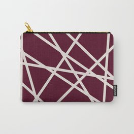 Maroon Line Carry-All Pouch