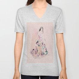Floral Dress no 3 Unisex V-Neck