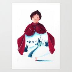 winter lady Art Print