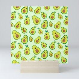 Cute Avocado Pattern Mini Art Print