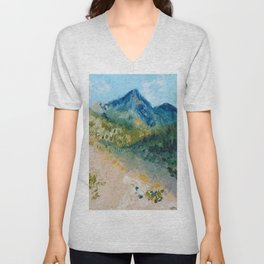 Mountain Landscape Unisex V-Neck