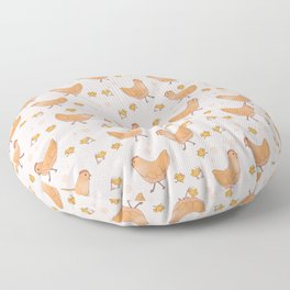 Chicken and chick Floor Pillow