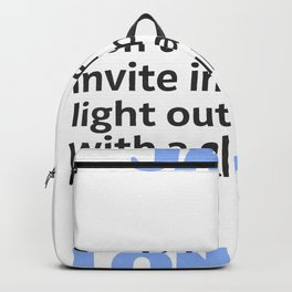 Jack L. quote Backpack